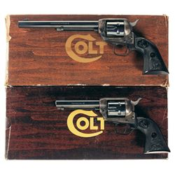 Two Colt Peacemaker Single Action Revolvers