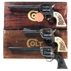 Collector's Lot of Three Colt Single Action Revolvers