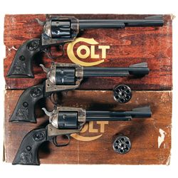 Collector's Lot of Three Colt New Frontier Revolvers