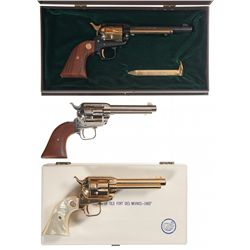 Collector's Lot of Three Colt Commemorative Single Action Revolvers