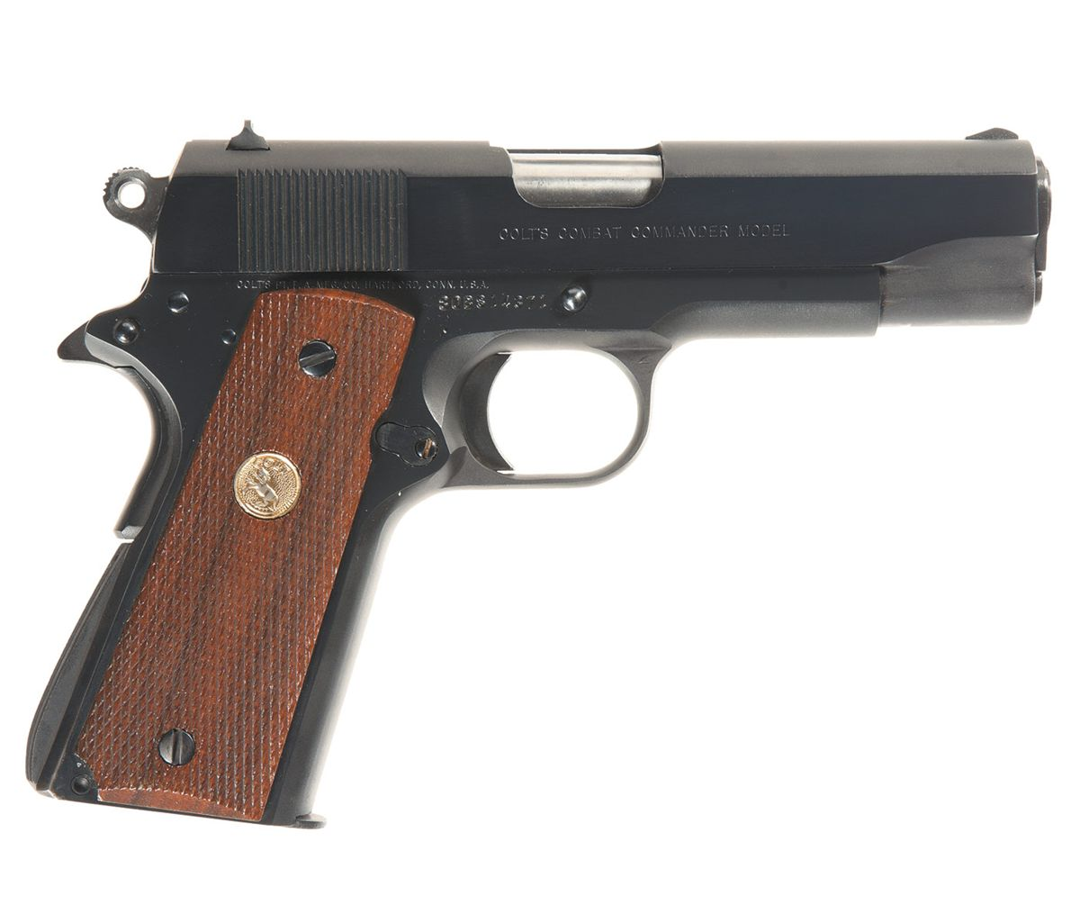 Colt Combat Commander 1911 Semi Automatic Pistol With Box