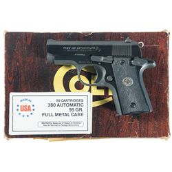 Colt MK IV Series 80 Mustang Semi-Automatic Pistol with Box and Ammunition