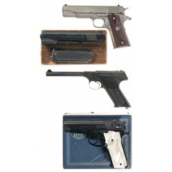Three Semi-Automatic Pistols and a Boxed .22 LR Conversion Kit