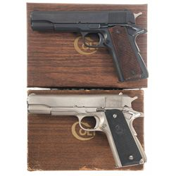 Two Boxed Colt Government Model 1911 Semi-Automatic Pistols
