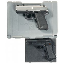 Two Cased Semi-Automatic Pistols