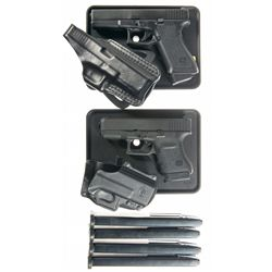 Two Glock Semi-Automatic Pistols with Boxes and Accessories