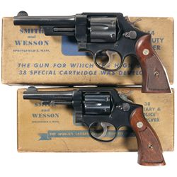 Collector's Lot of Two Boxed Smith & Wesson Double Action Revolvers