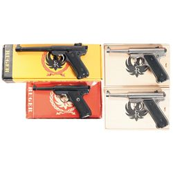 Collector's Lot of Four Ruger Semi-Automatic Pistols