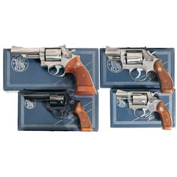 Four Boxed Smith & Wesson Double Action Revolvers