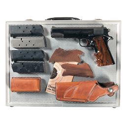 Colt 1911A1 Semi-Automatic Pistol with Four Extra Magazines Holster and Case