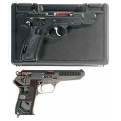 Two CZ Cutaway Semi-Automatic Pistols