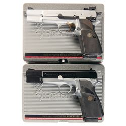 Two Browning Pistols with Cases