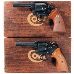 Two Boxed Colt Double Action Revolvers