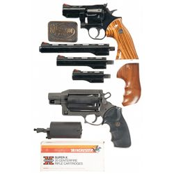 Two Double Action Revolvers with Hardcases