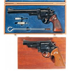 Two Cased Smith & Wesson Model 57 Target Double Action Revolvers