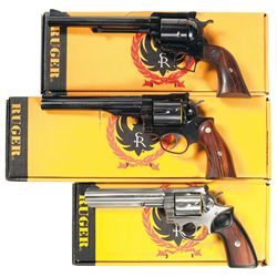 Three Boxed Ruger Revolvers