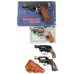 One Semi-Automatic Pistol and Three Double Action Revolvers