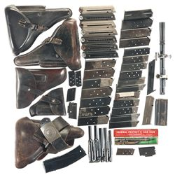 Three Gas Pens, Holsters, Magazines and a Scope