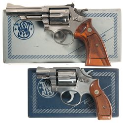 Two Boxed Smith & Wesson Double Action Revolvers