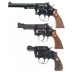 Collector's Lot of Three Double Action Revolvers