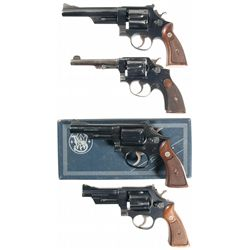 Collector's Lot of Four Smith & Wesson Double Action Revolvers