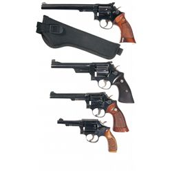 Collector's Lot of Four Smith & Wesson Double Action Revolver