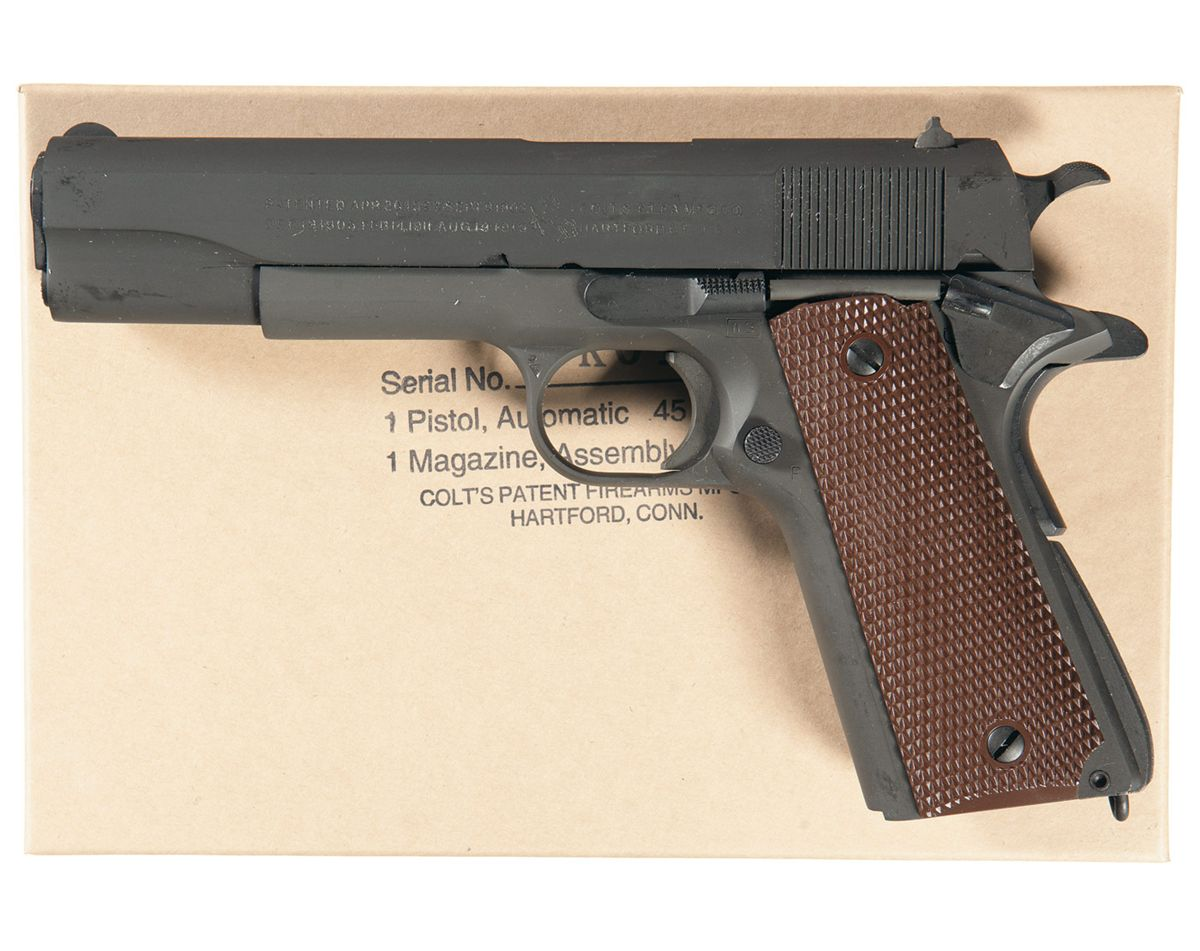 Colt Wwii Reproduction Model 1911a1 Semi Automatic Pistol