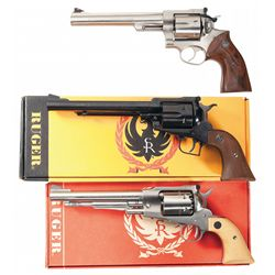 Three Ruger Revolvers