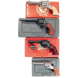 Four Ruger Single Action Revolvers