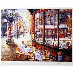Jacobson Limited Edition Lithograph  Side Street Cafe