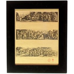 Original Museum stamped Etchings and Drawings