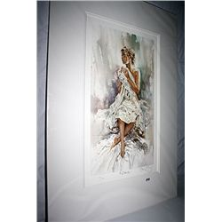 King Double Signed Photo Lithograph - A Glance