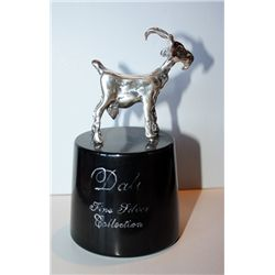 Dali  Real .999 Silver Sculpture - Billy Goat