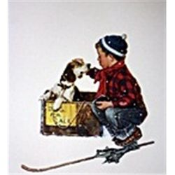 A Boy Meets his Dog by Rockwell