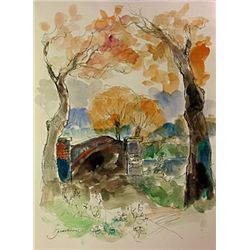Original Watercolor on paper  by Michael Schofield