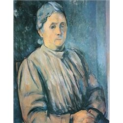 Portrait of a Woman by Paul Cezanne  Lithograph