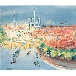 Seaside- Jean Dufy - Limited Edition on Canvas