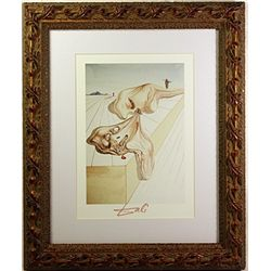 Extrememly Rare Original Salvador Dali Woodblock - Signed