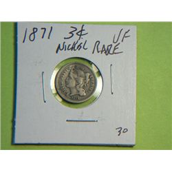 1871 3 CENT NICKEL