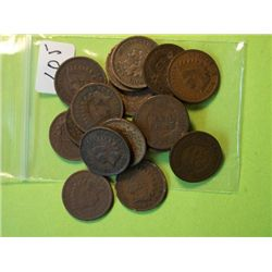 (20) INDIAN HEAD CENT