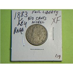 1883 NO CENTS NICKEL