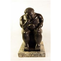 Botero   Original limited Edition Bronze Sculpture - The Thinker