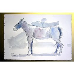 Frederic Remington Original Watercolor on Paper -The Pony