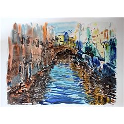 Sassone Hand Signed Serigraph - Venice Canal
