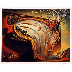 Salvador Dali Signed Limited Edition - Soft Watch at Moment of Explotion
