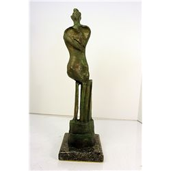 Henry Moore  Original, limited Edition  Bronze - Maquette for Three-Quarter Figure