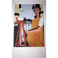 Limited Edition Picasso - Woman with Sculpture - Collection Domaine Picasso
