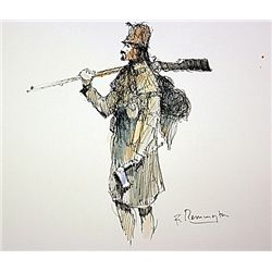Original Watercolor by F. Remington