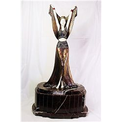 X- Bronze and Ivory Sculpture by Chiparus