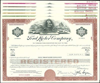 ford motor co bonds